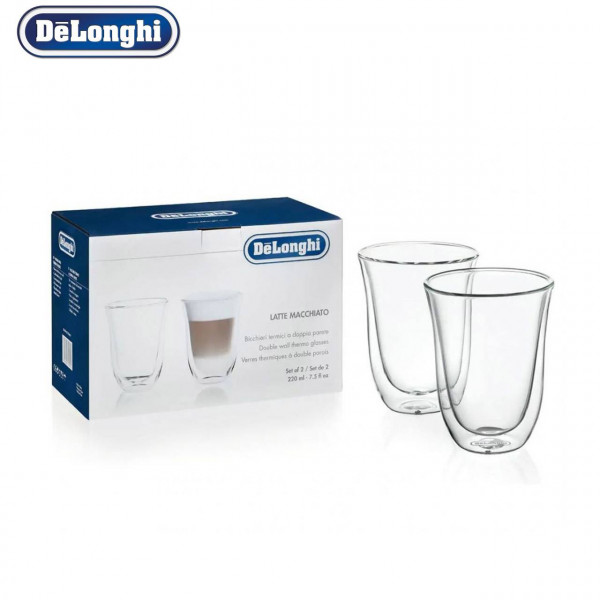 Stəkan Dəsti DeLonghi DLSC312 2 GLASSES-Latte Macchiato