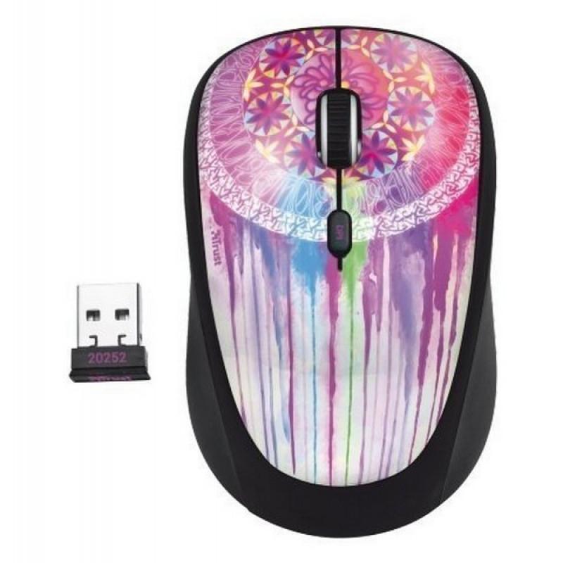 Беспроводная мышь Trust Yvi Wireless Mouse - dream catcher (20252)