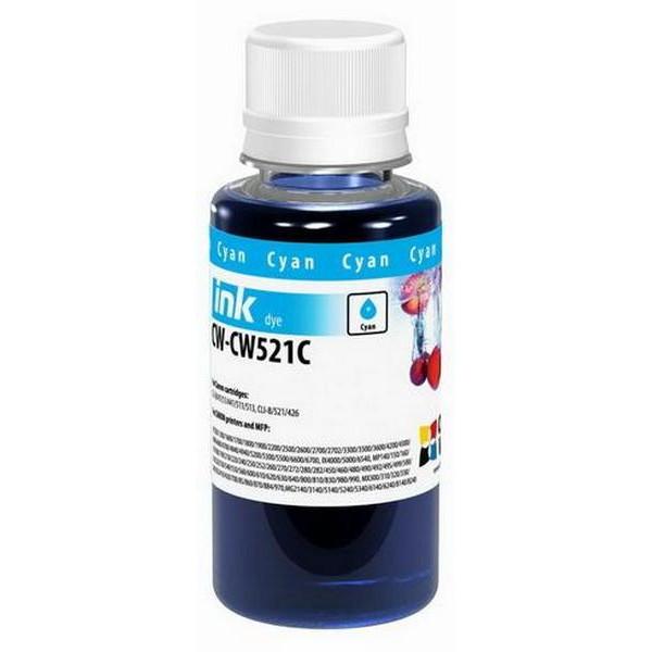 Mürəkkəb ColorWay Ink for Canon CL-38/CLI-521 Cyan 100ml (CW-CW521C01)