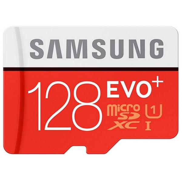 Yaddaş kartı Samsung Micro SD EVO+ 128GB Memory Card + Adapter (Class 10)