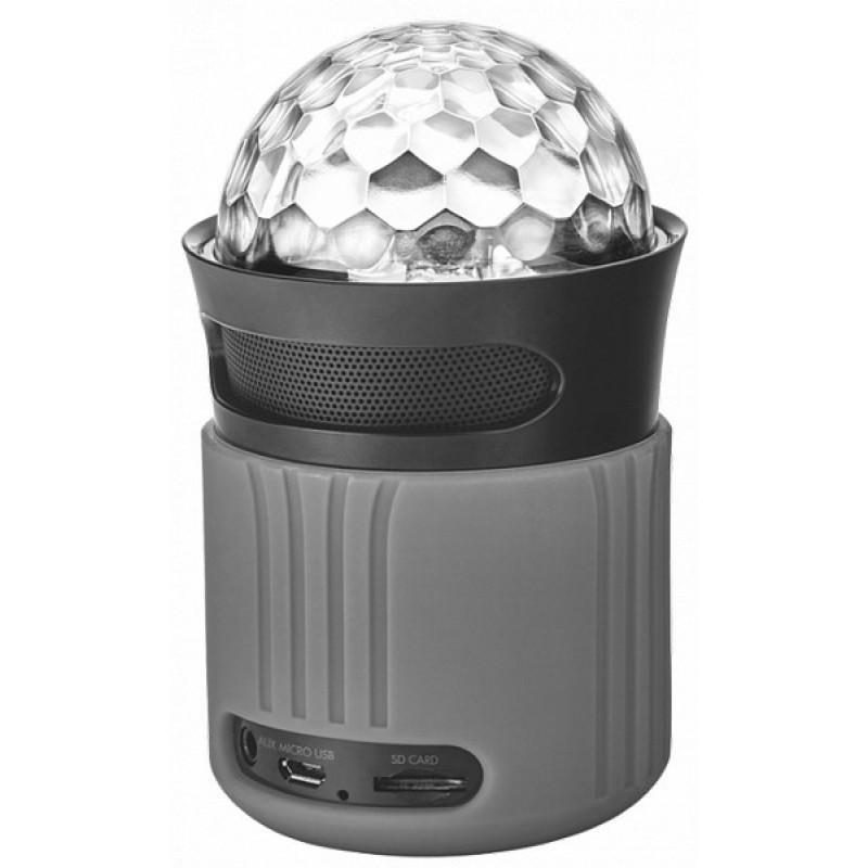 Беспроводной динамик Trust Dixxo Go Wireless Bluetooth Speaker With Party Lights - Grey (21345)