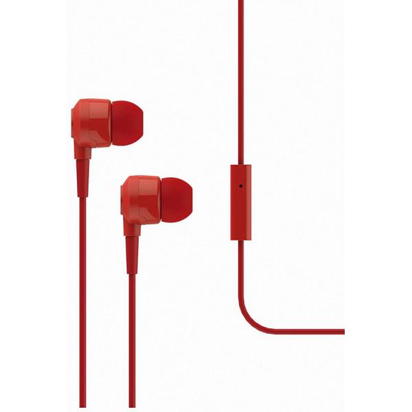 Qulaqlıq T-Tech J10 In-Ear Headphone with Microphone 3.5mm Red