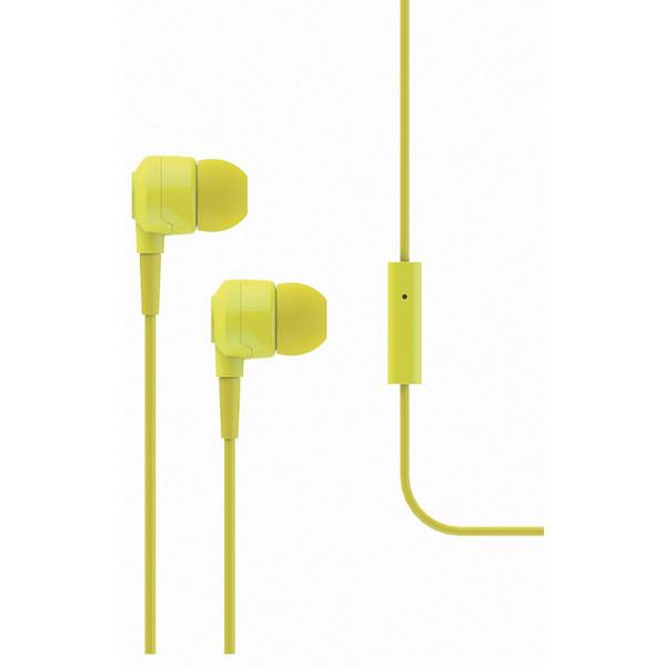 Qulaqlıq T-Tech J10 In-Ear Headphone with Microphone 3.5mm Yellow