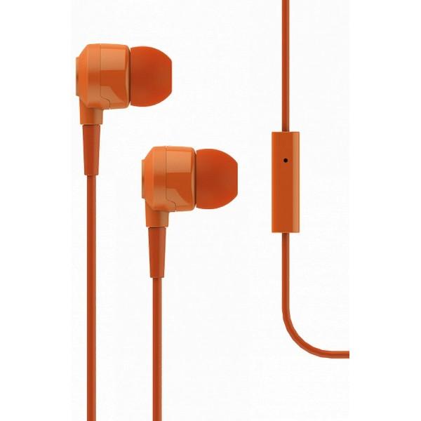 Qulaqlıq T-Tech J10 In-Ear Headphone with Microphone 3.5mm Orange