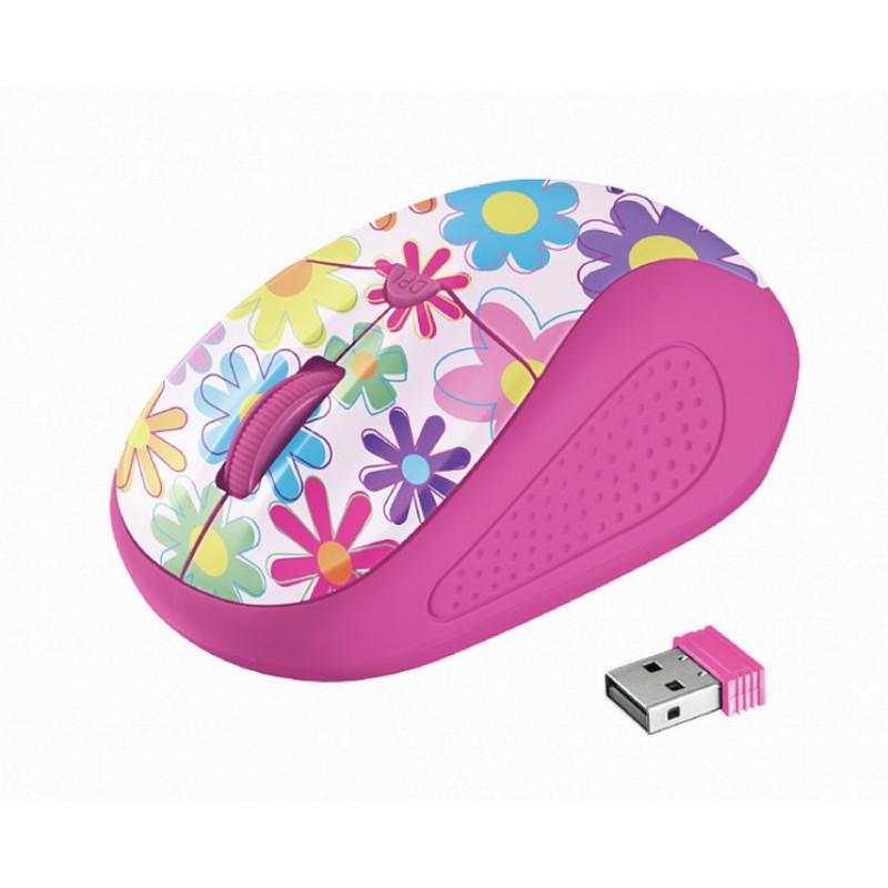 Беспроводная мышь Trust Primo Wireless Mouse - pink flowers (21481)