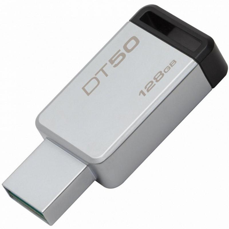 USB-Флешка Kingston 128GB USB 3.0 DataTraveler 50 (Metal/Black)