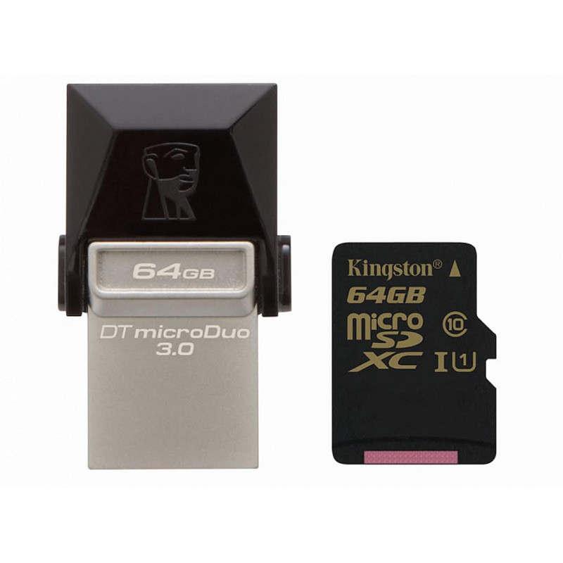USB-Флешка Kingston 64GB DT MicroDuo USB 3.0 + microUSB (Android/OTG)