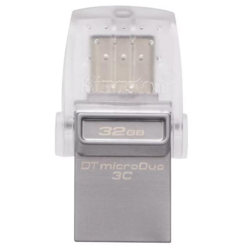 USB-Флешка Kingston 32GB DT microDuo 3C, USB 3.0/3.1 + Type-C flash drive