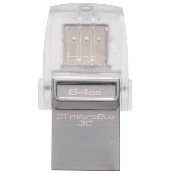 USB-Флешка Kingston 64GB DT microDuo 3C, USB 3.0/3.1 + Type-C flash drive