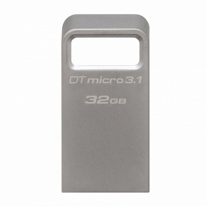 USB-Флешка Kingston 32GB DTMicro USB 3.1/3.0 Type-A metal ultra-compact drive