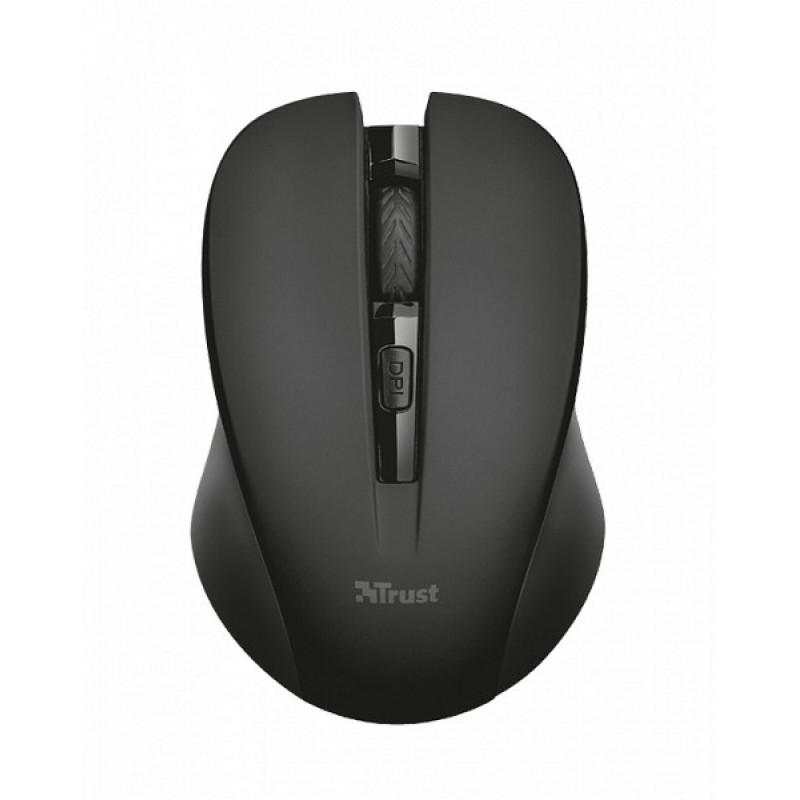 Беспроводная мышь Trust Mydo Silent Wireless Mouse - black (21869)