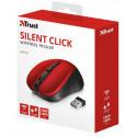 Беспроводная мышь Trust Mydo Silent Wireless Mouse - red (21871)