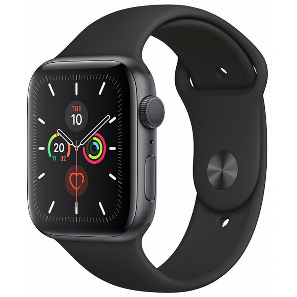 Ağıllı saat Apple Watch Series 5 44mm Space Gray Aluminum Case Black Sport Band