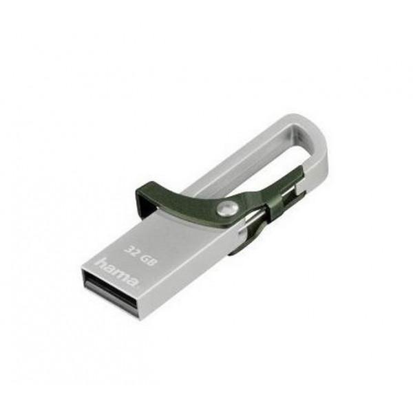 USB-Fləş Hama USB Flash Hook-Sty 32Gb 2.0Usb Silver