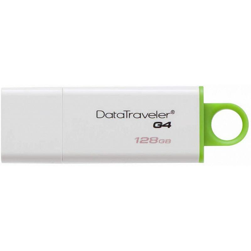 USB-Флешка Kington 128GB USB 3.0 DataTraveler I G4 (White + Green)