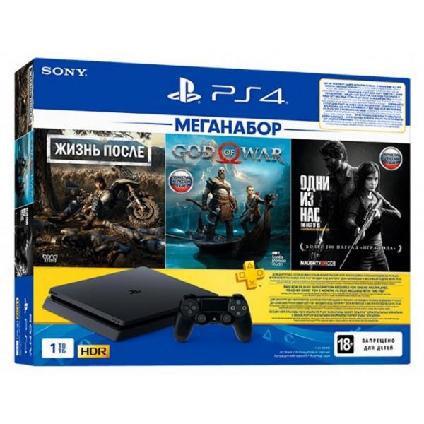 Oyun konsolu Sony PS4 Slim 1TB Black (Days Gone + God of War + The Last of Us)