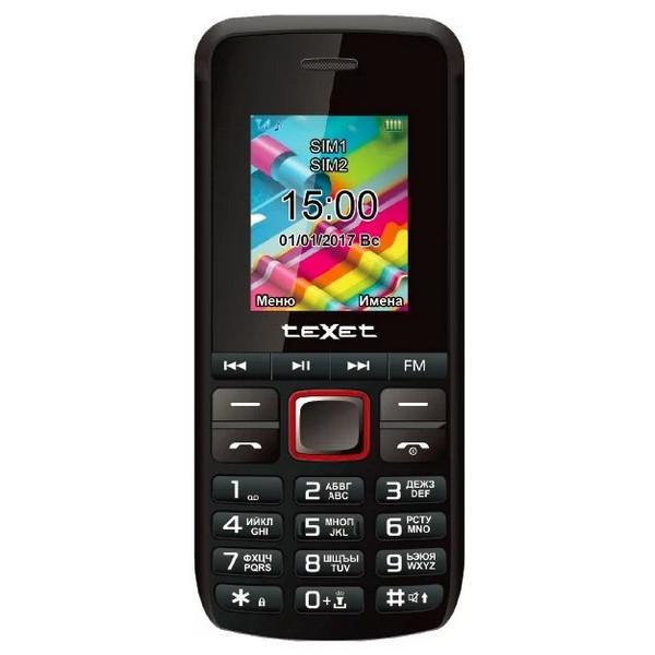 Телефон Texet TM-203 Black-Red