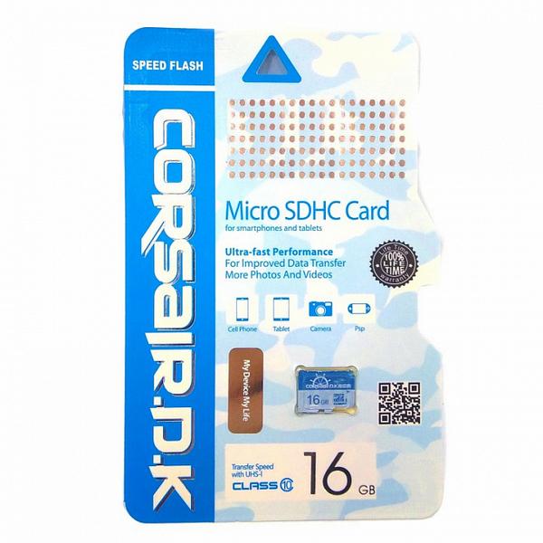 Yaddaş kartı Corsair Micro SD 16GB