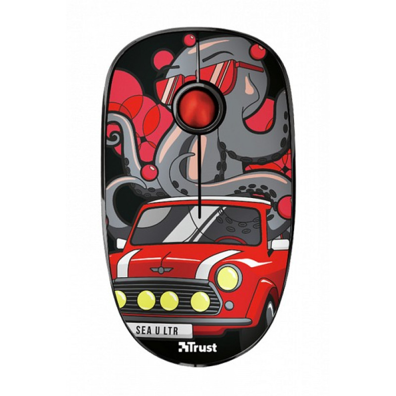 Беспроводная мышь Sketch Silent Click Wireless Mouse - red (23336)