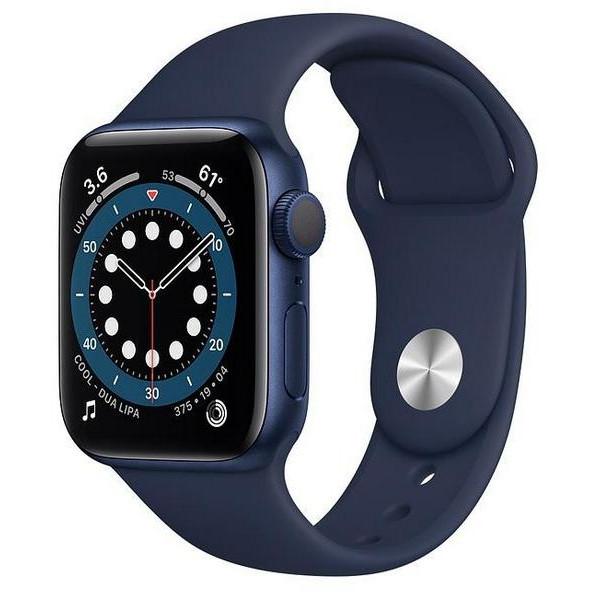 Ağıllı saat Apple Watch Series 6 40mm Blue Aluminum Case with Deep Navy Sport Band