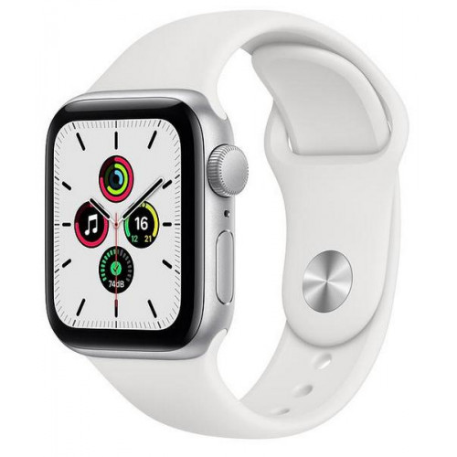 Умные часы Apple Watch SE 40mm Silver Aluminum Case with White Sport Band - Silver