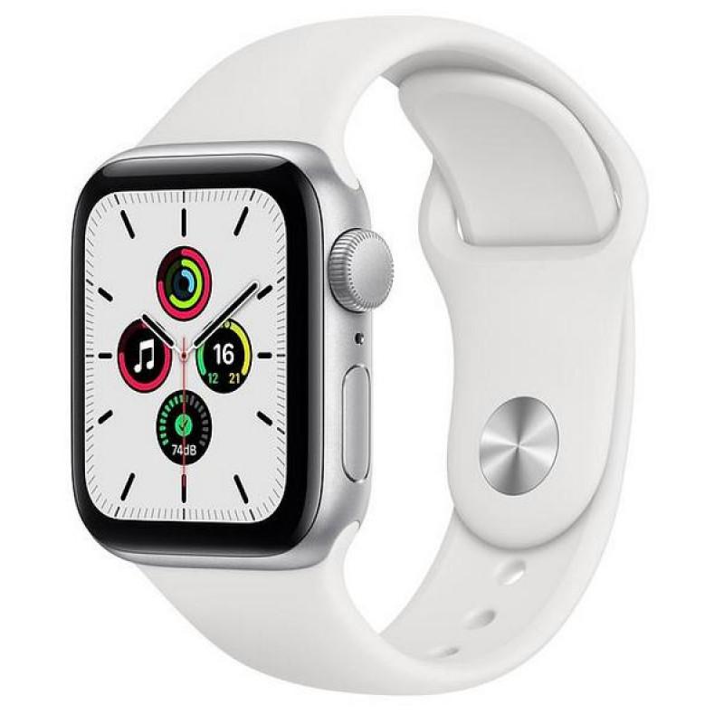 Ağıllı saat Apple Watch SE 40mm Silver Aluminum Case with White Sport Band - Silver