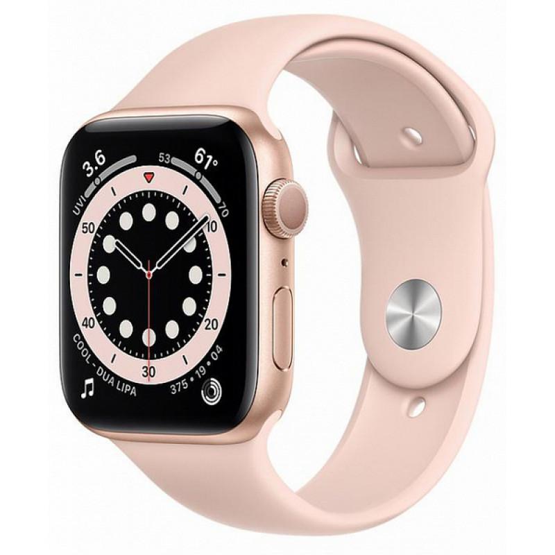 Ağıllı saat Apple Watch Series 6 44mm Gold Aluminum Case with Sport Band